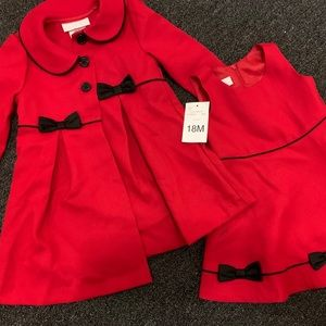 Baby Holiday outfit set with free jacket